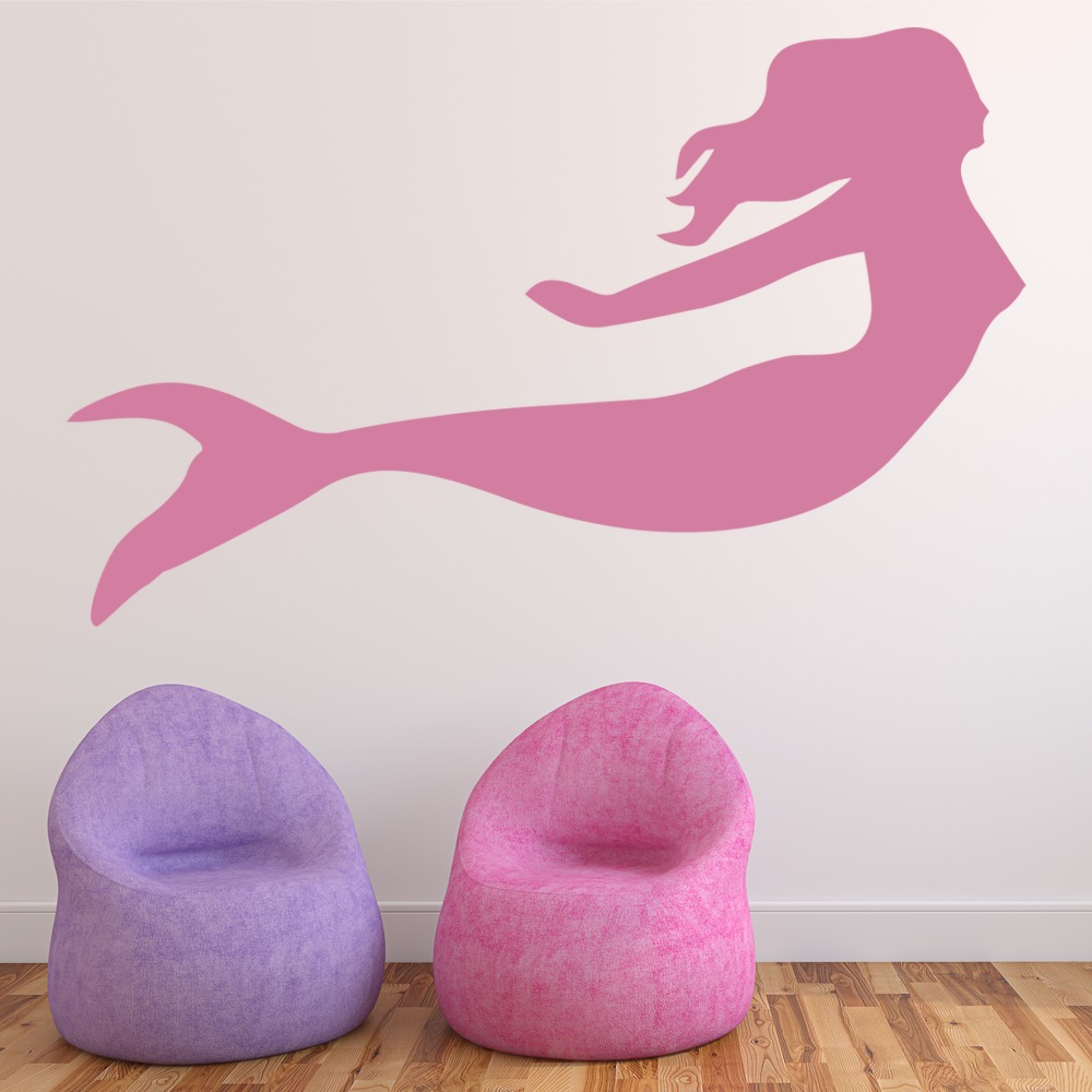 Swimming Mermaid Wall Stickers Fantasy Wall Art