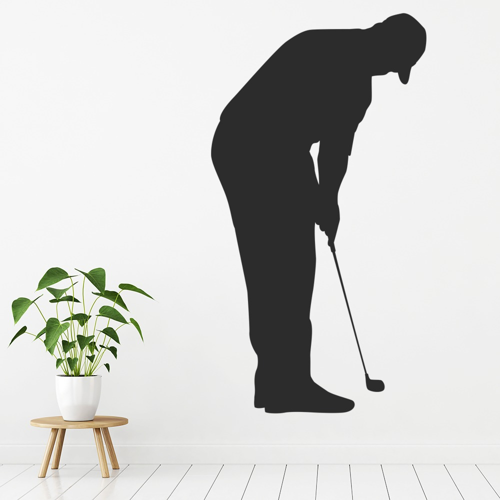golf putter wall sticker sport wall art baseball jersey varsity number sports kids room stickers