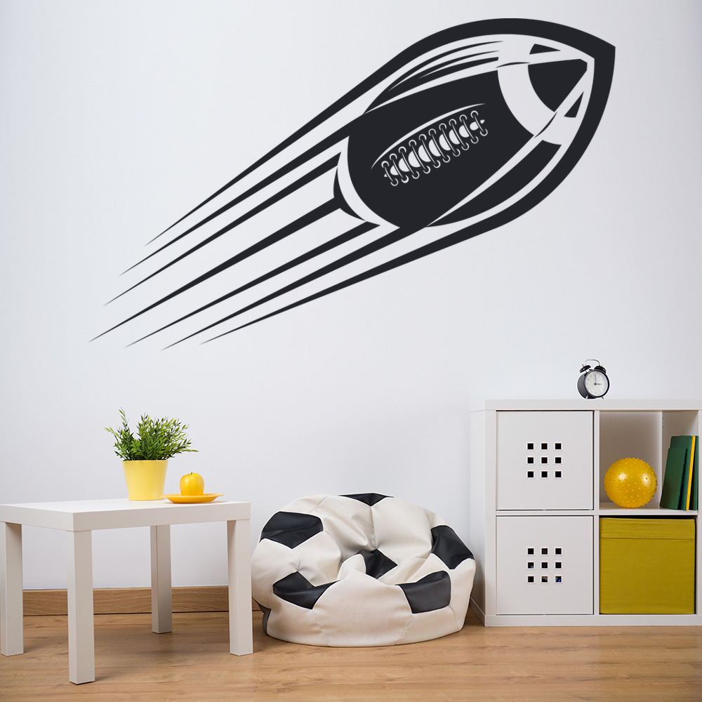 american footballer wall sticker sport wall art