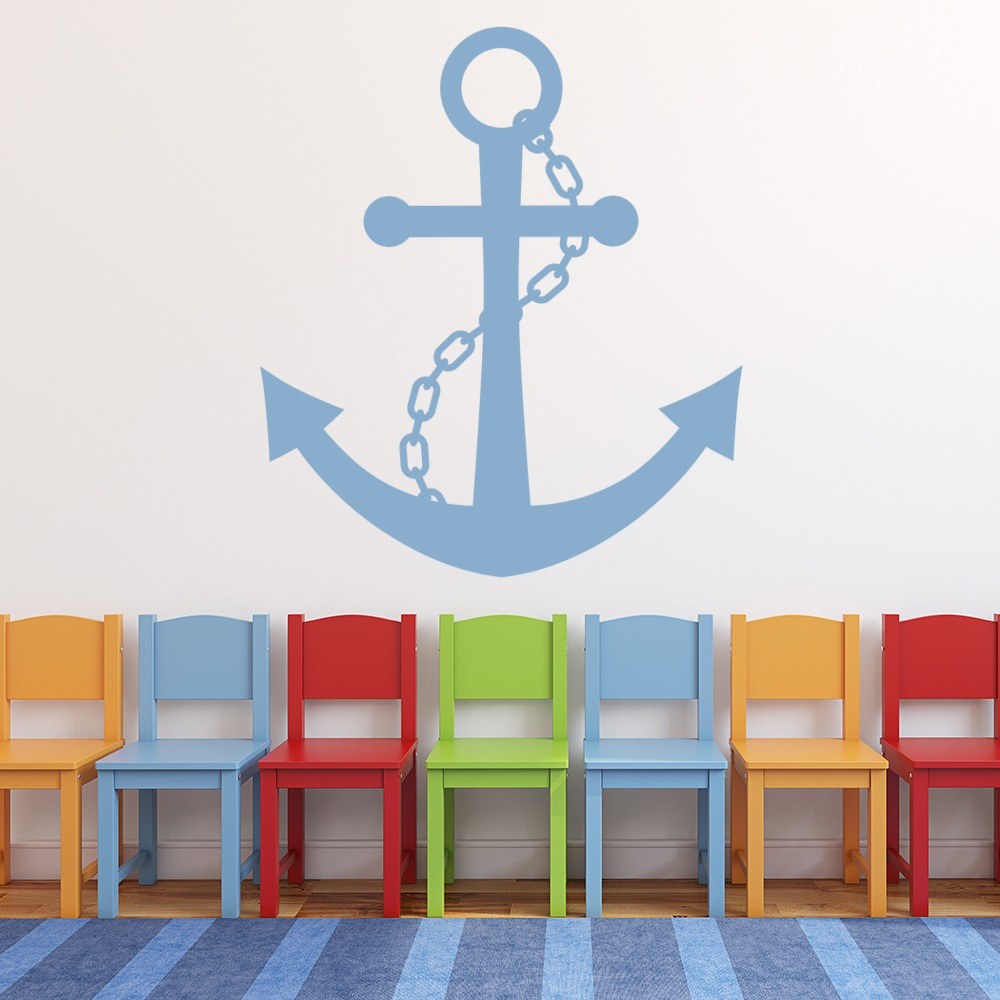 Chain And Anchor Wall Sticker Nautical Wall Art