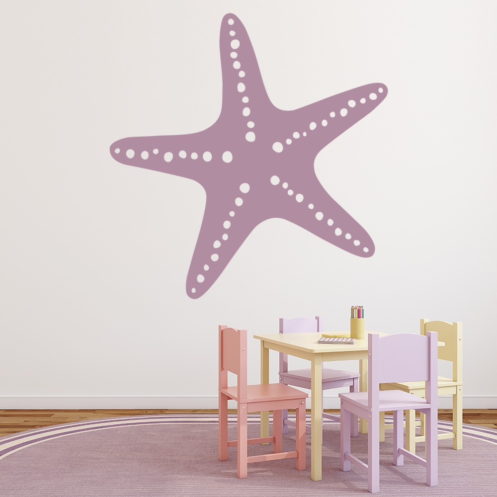 Star Fish Print Wall Sticker Beach Wall Art