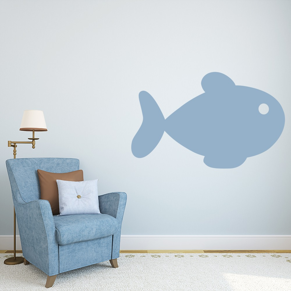 Simple Fish Print Wall Sticker Animal Wall Art