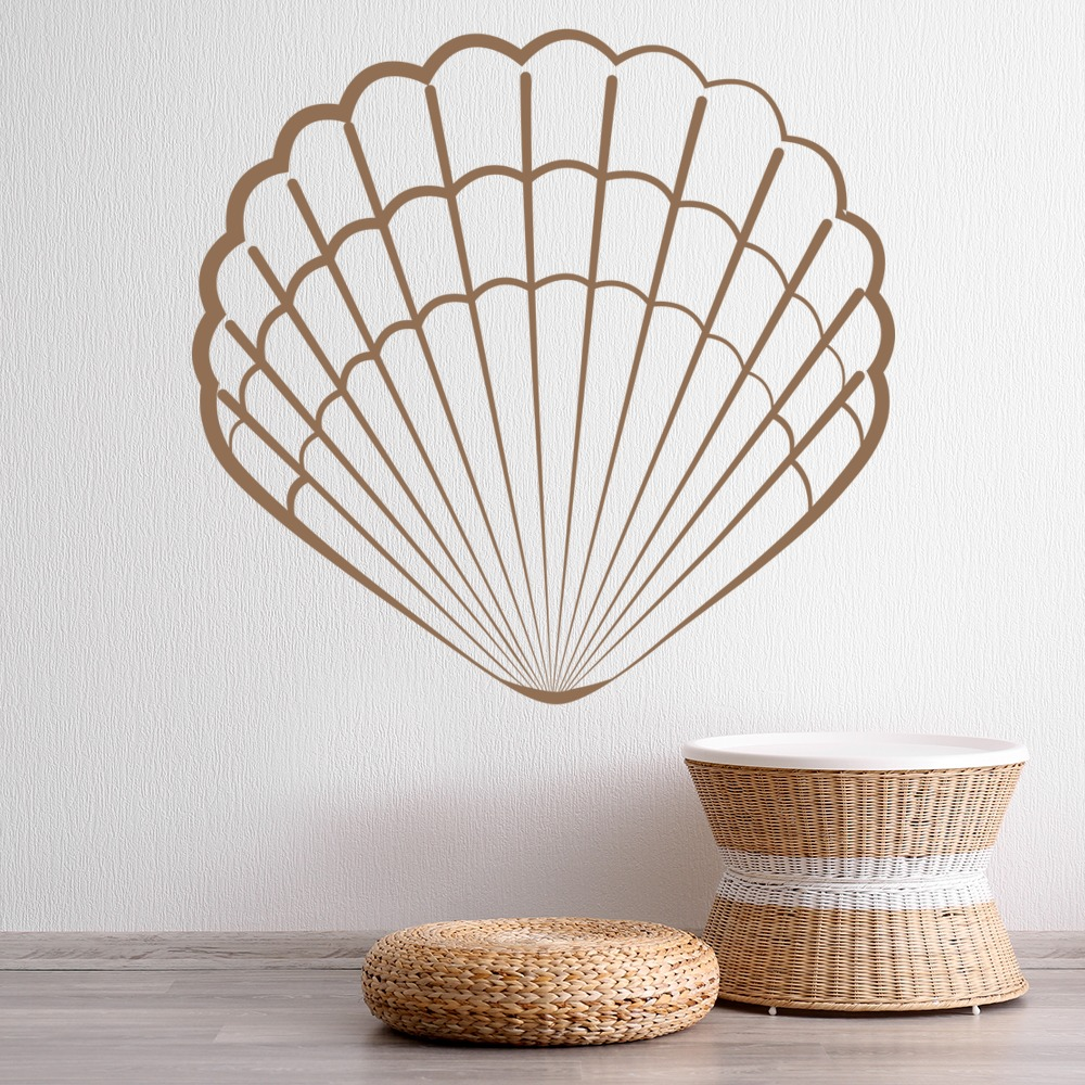 Scallop Shell Wall Sticker Patterned Wall Art