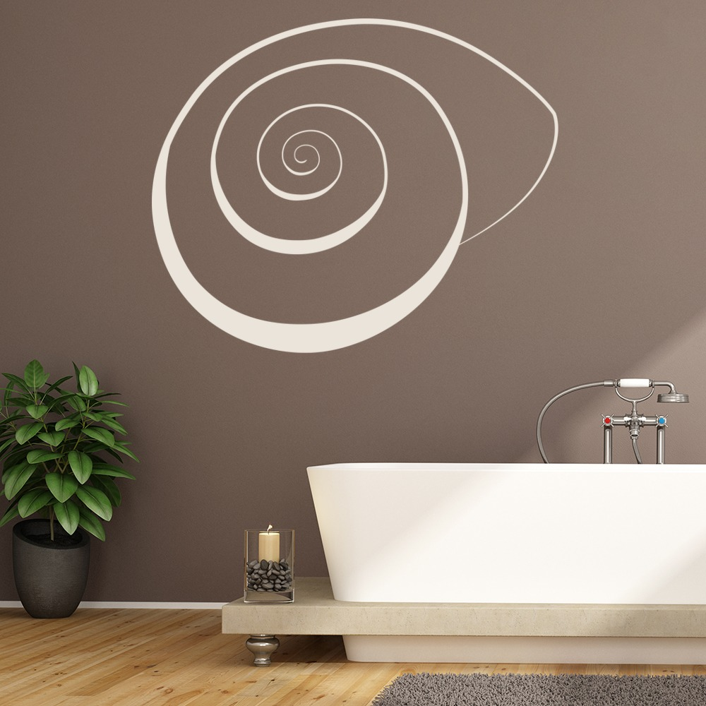 Snail Shell Print Wall Sticker Patterned Wall Art