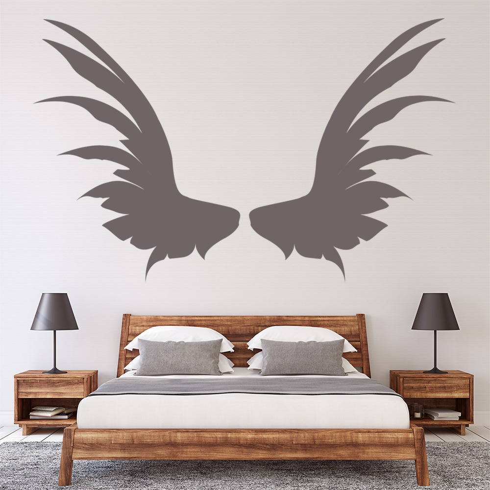 Angel Wings Wall Sticker Fantasy Wall Art