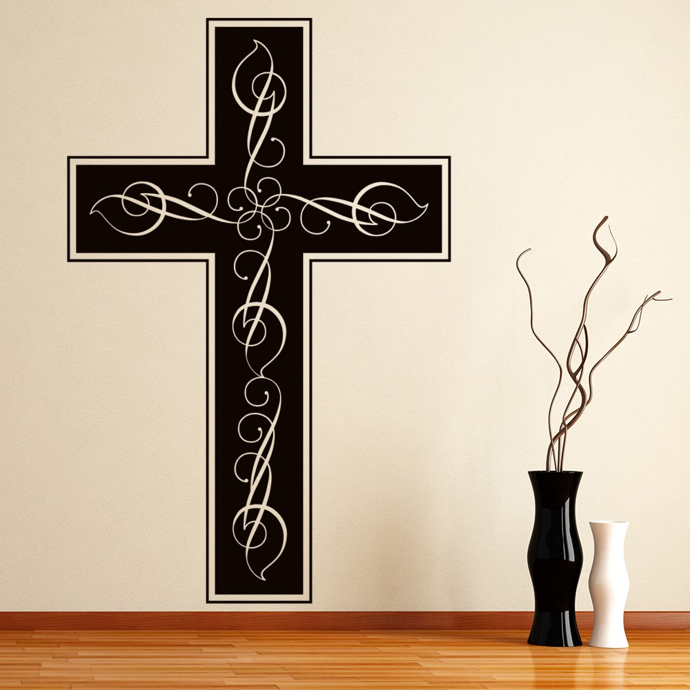 Religious Cross Decorative Wall Stickers Wall Art Decal