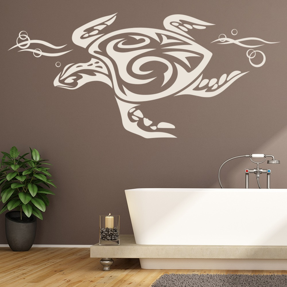 Tribal Sea Turtle Wall Sticker Tribal Animal Wall Art