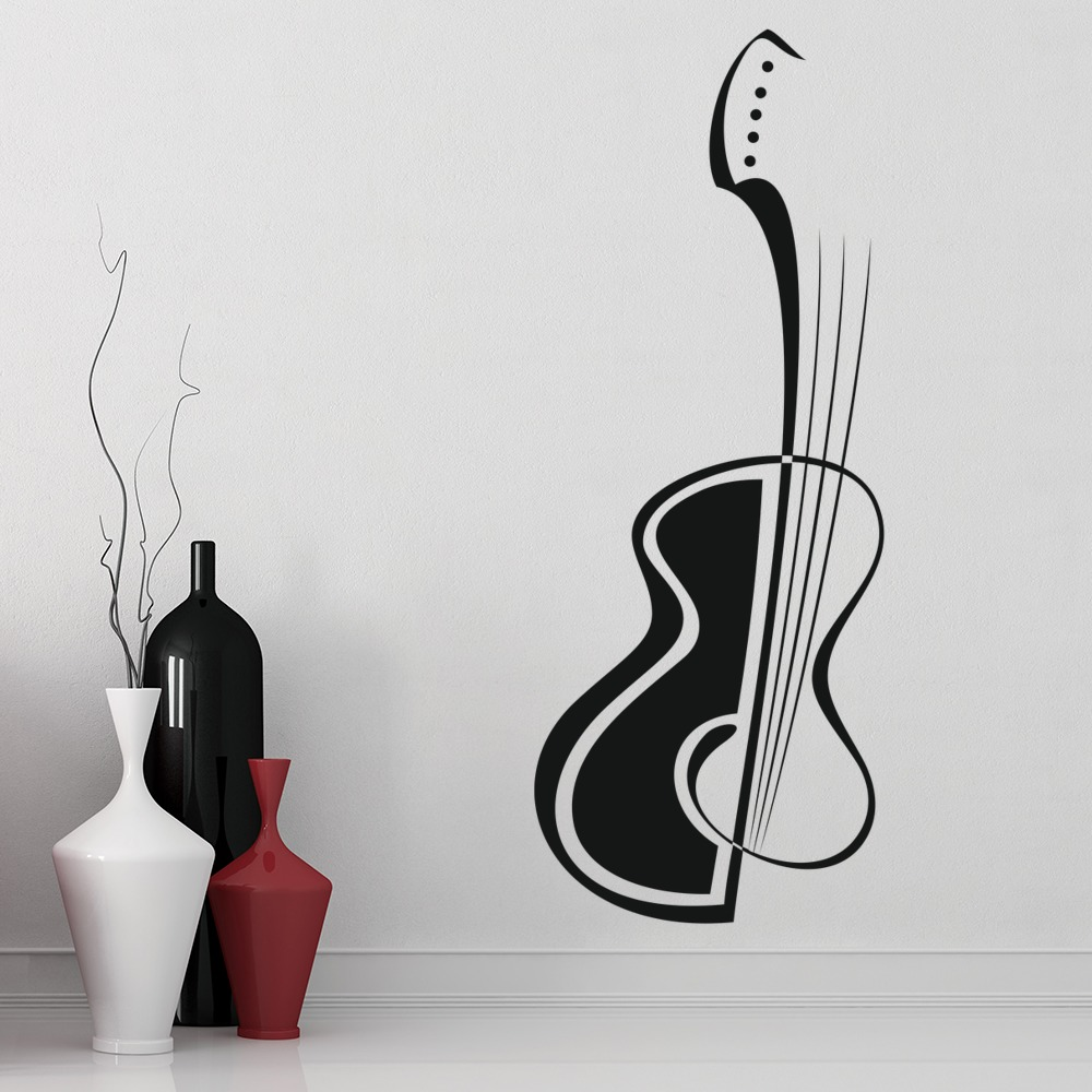 abstract guitar wall stickers music wall art headphone wall sticker music decal wall art by loveabode com