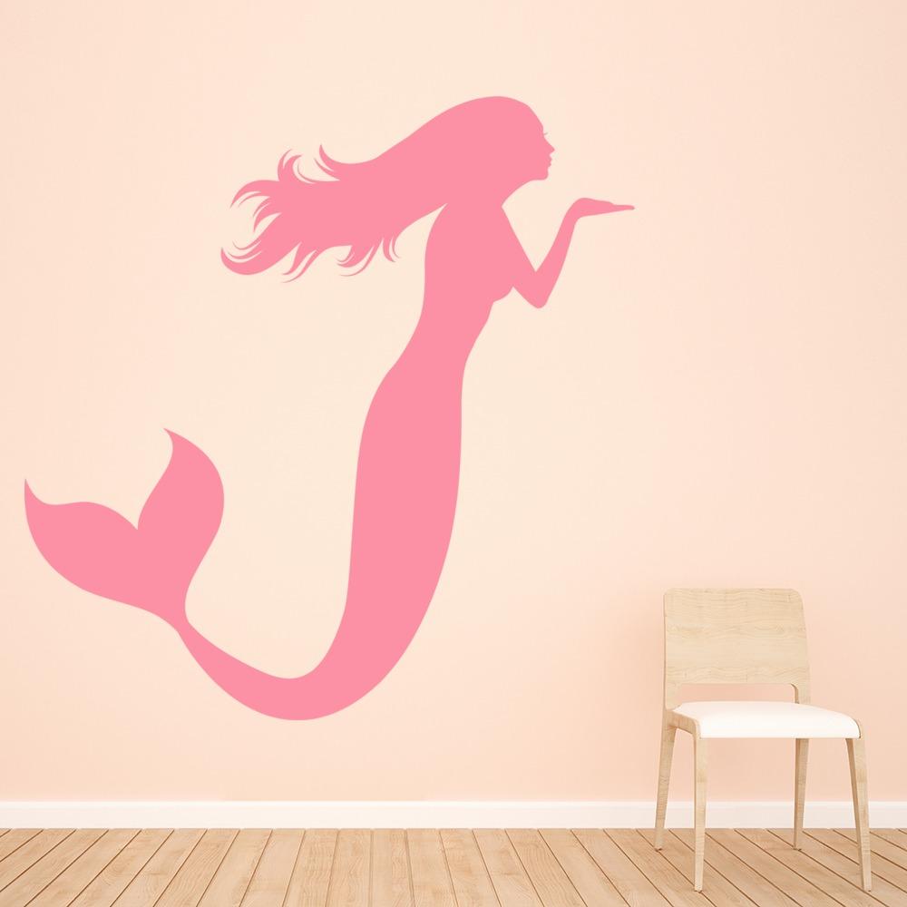 Mermaid Blowing A Kiss Wall Sticker Fantasy Wall Art