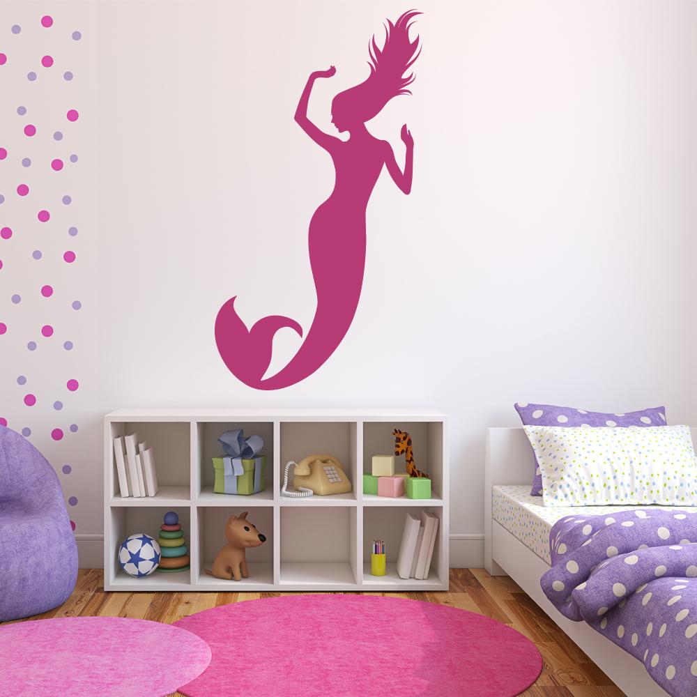 Mermaid Wall Sticker Fairytale Wall Decal Girls Bedroom
