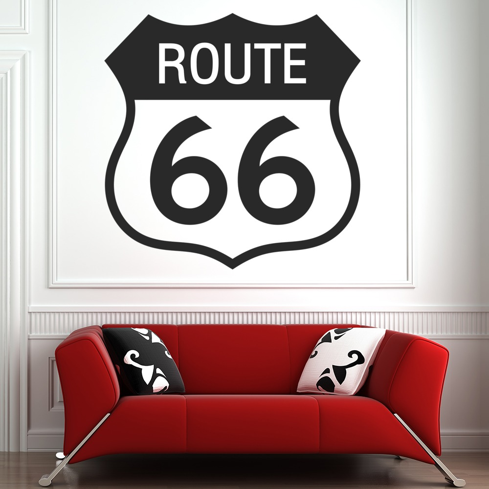 Route 66 Wall Sticker USA America Wall Decal Bedroom