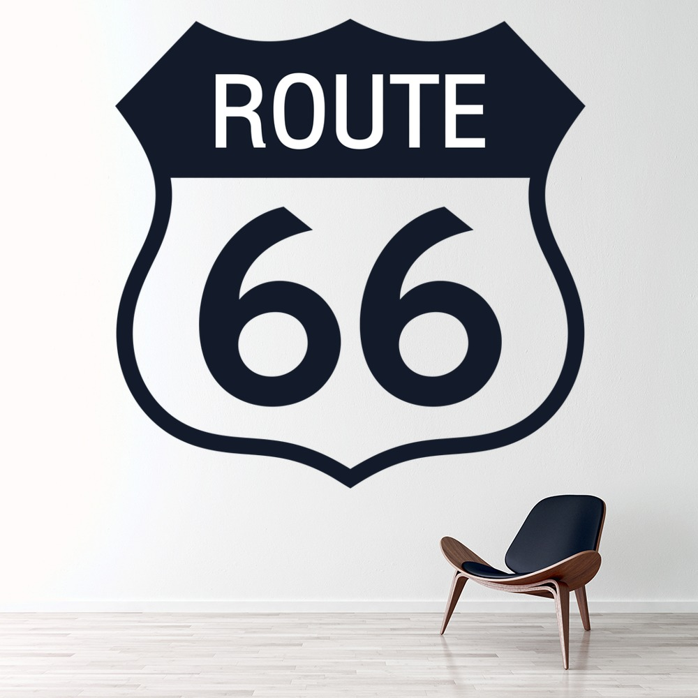 Route 66 Travel Road Trip LAndmark America USA Wall Sticker Home Decor Art Decal