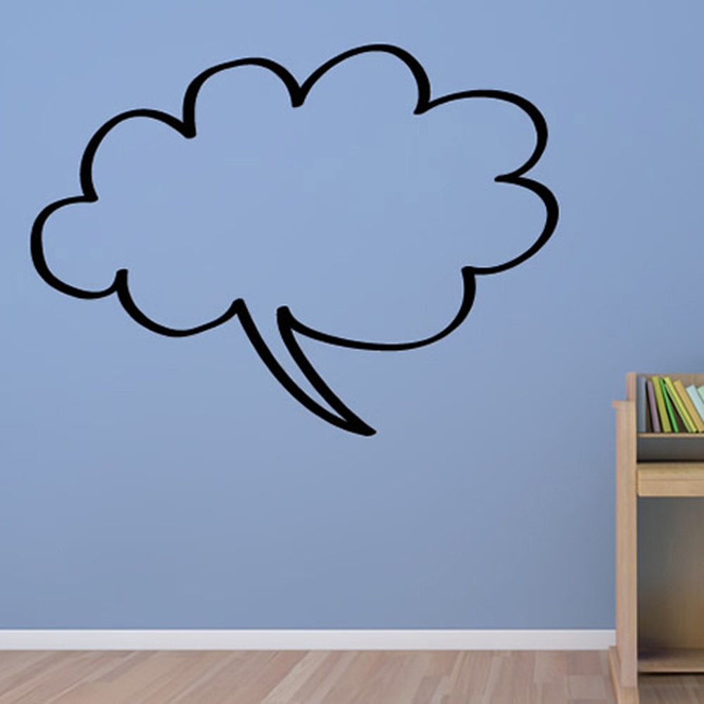 Cloud Speech Bubble Decorative Speech Bubble Wall Sticker Home School Art Decals