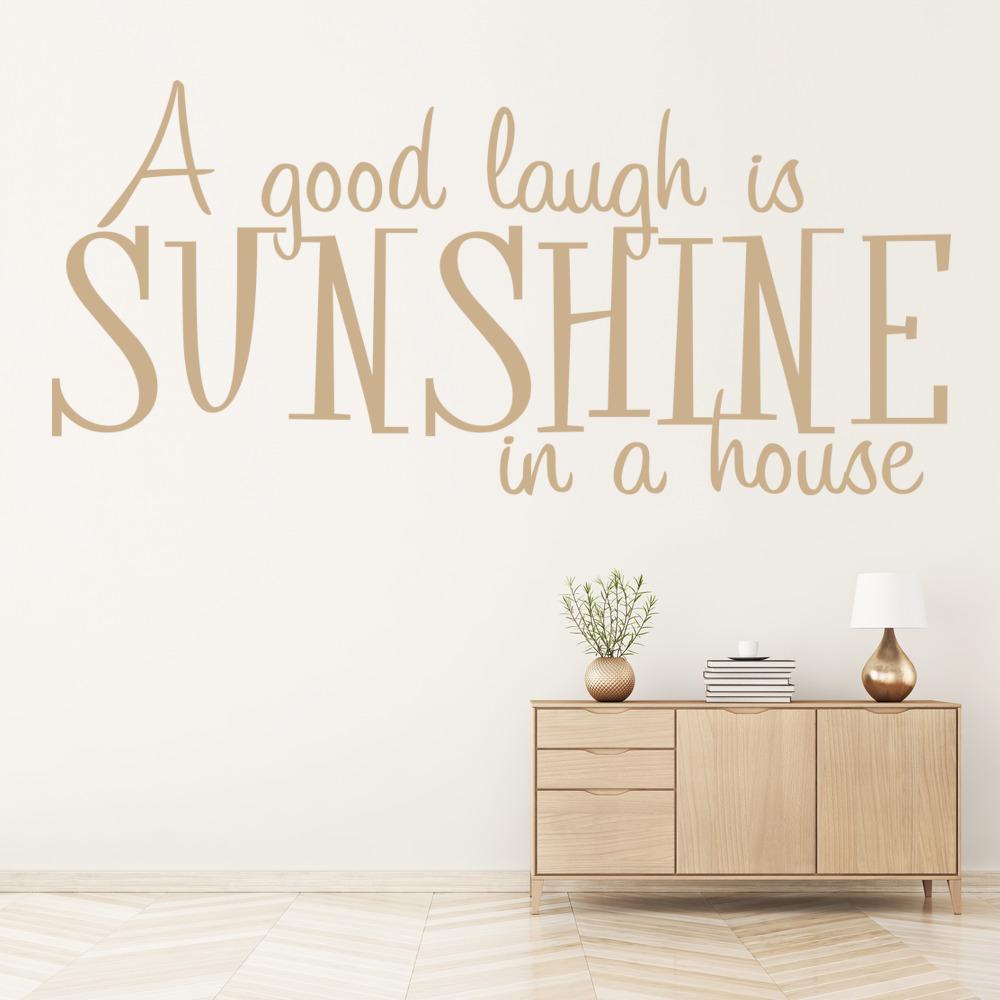 A Good Laugh Is Sunshine Wall Sticker Home Wall Art
