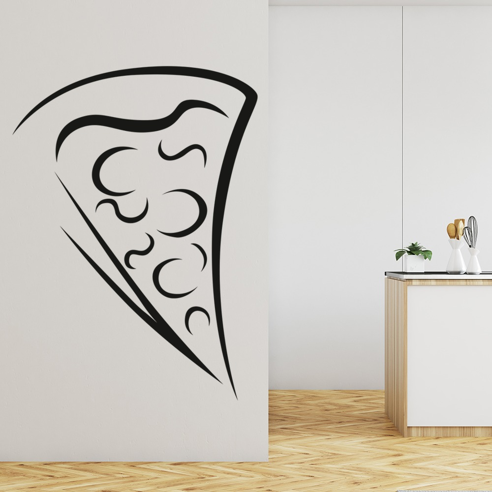 Pizza Slice Wall Sticker Food Wall Art