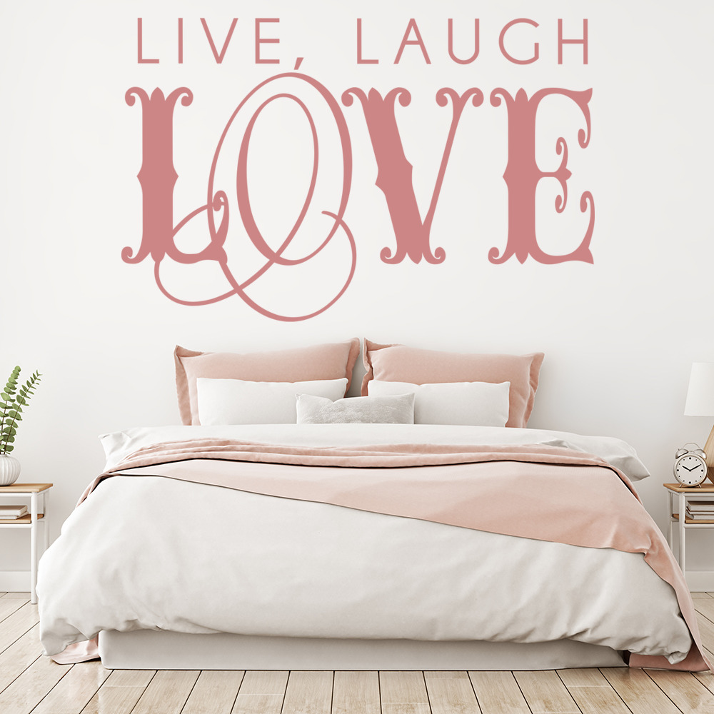 Love Wall Quotes: Live, Laugh, Love Wall Stickers Love Wall Art