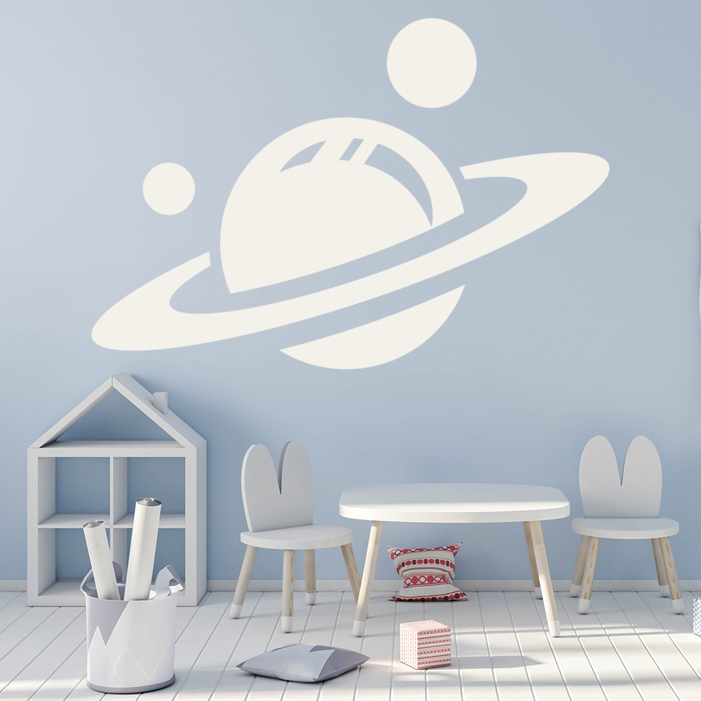 saturn wall stickers space wall art