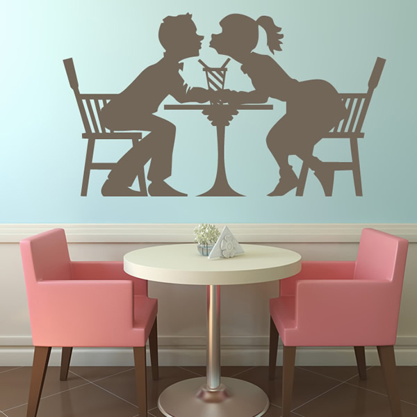 Cafe Scene Wall Sticker Decorative Wall Art