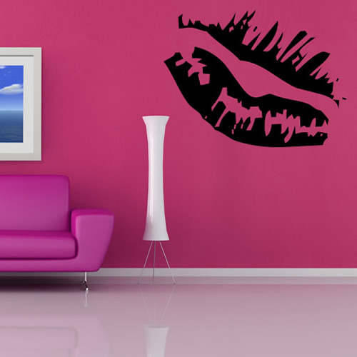 Kissing Lips Wall Sticker Decorative Wall Art