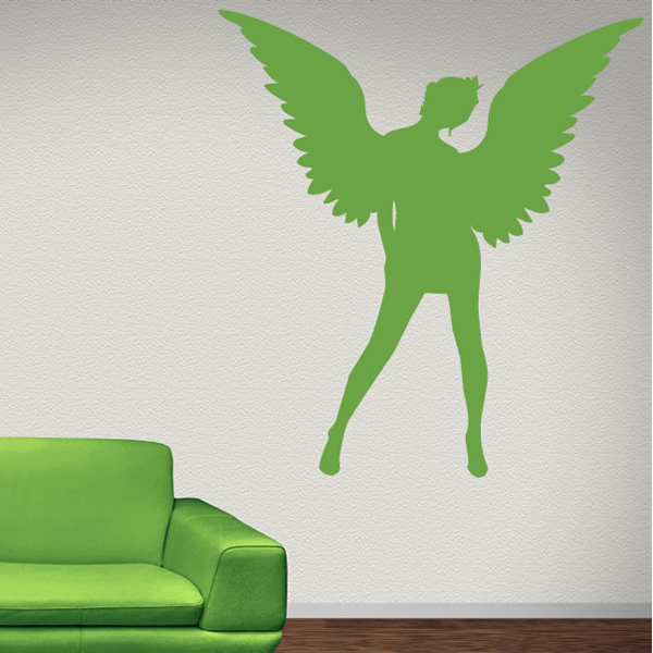 Angel Tilting Head Wall Sticker Angel Wall Art