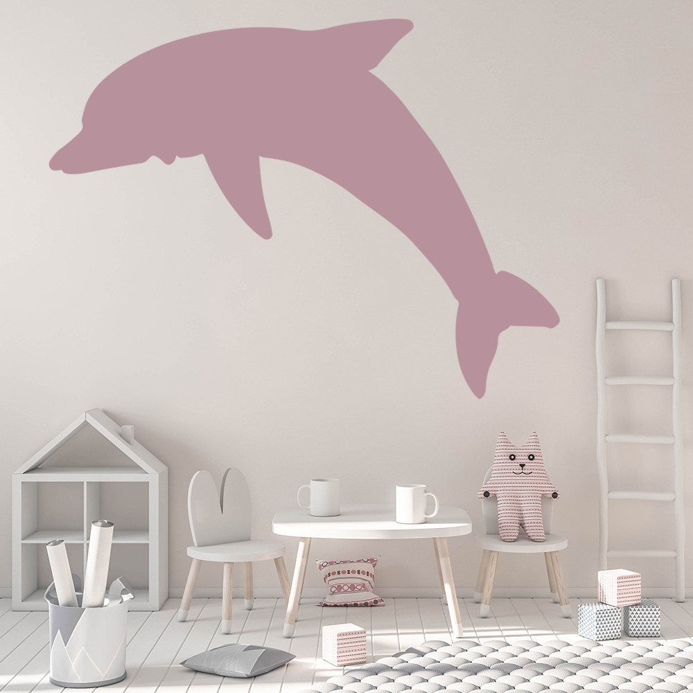 Silhouette Dolphin Bathroom Wall Stickers Wall Art Decal