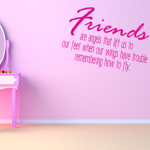Friends Are Angels That Lift Us To Our Feet Wall Sticker Religious Wall Art