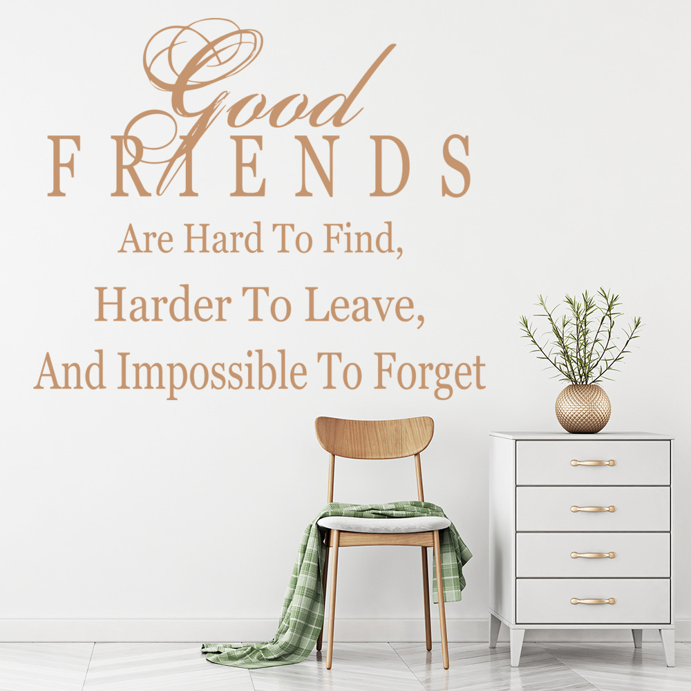 Good Friends Quote Wall Sticker Hard To Find Wall Decal Kitchen ...