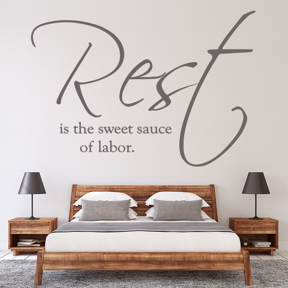 Rest Is The Sweet Sauce Of Labour Wall Sticker Bedroom Wall Art