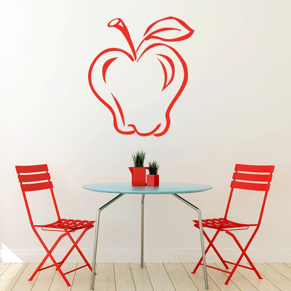 Apple Print Wall Stickers Food Wall Art