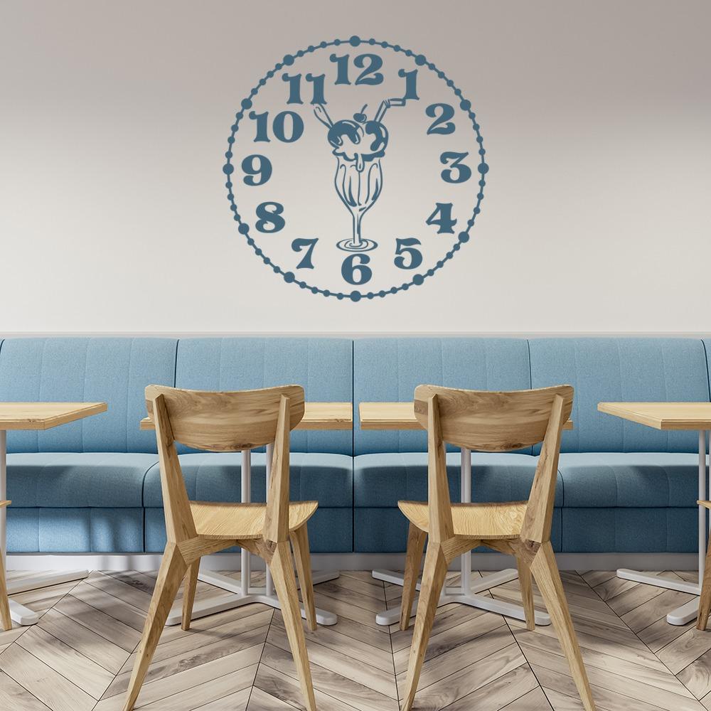 Knickerbocker Glory Clock Wall Sticker Kitchen Wall Art