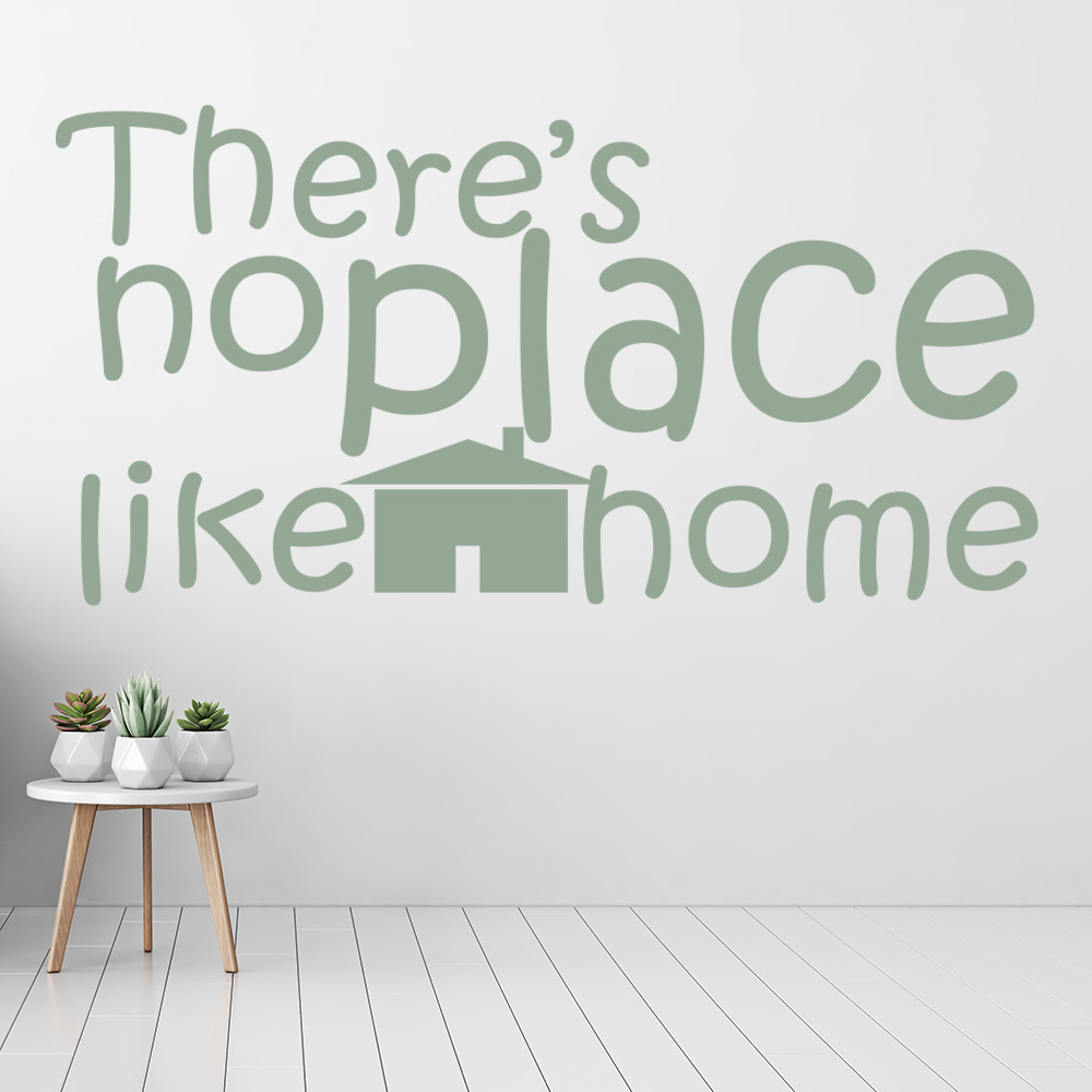 There's No Place Like Home Wall Sticker Home Wall Art