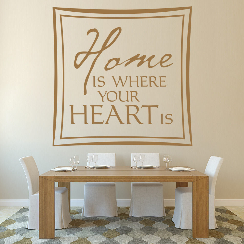 Home Is Where Your Heart Is Wall Sticker Home Wall Art
