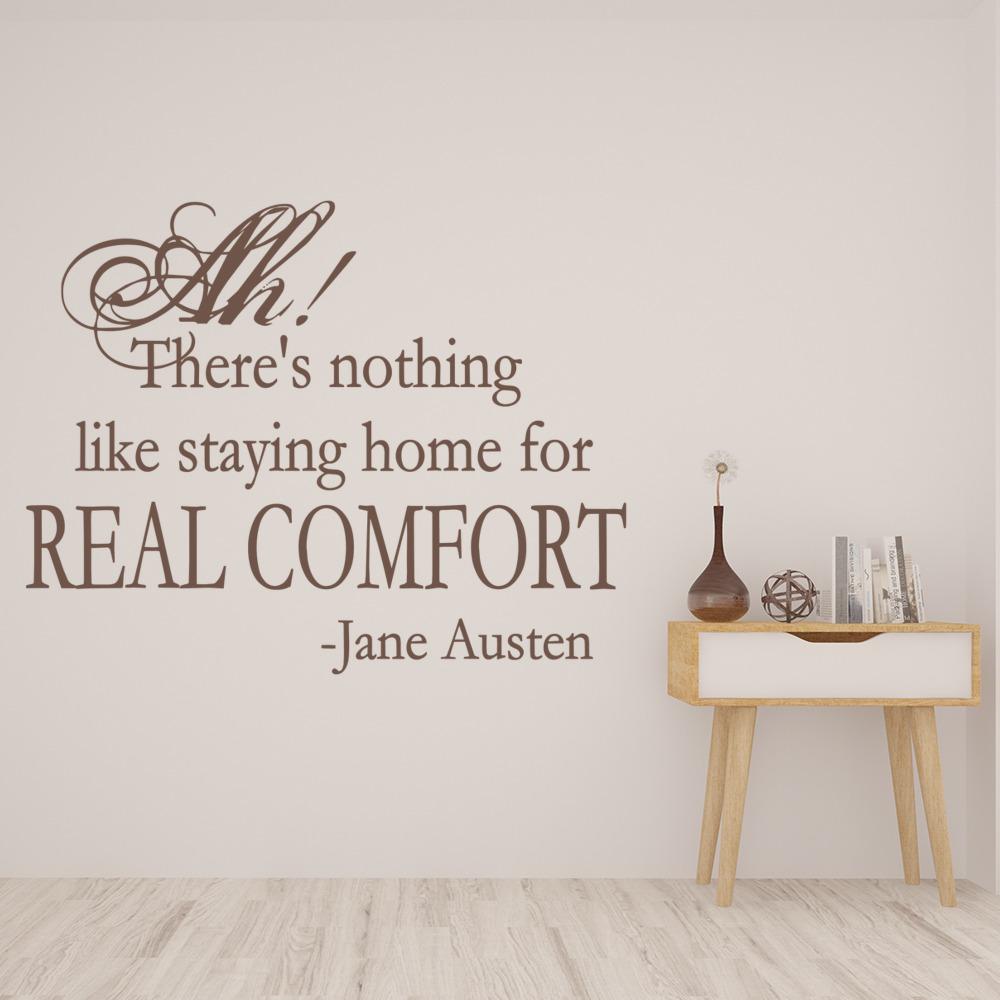 Jane Austin Wall Sticker Nothing like Staying Home Wall Art