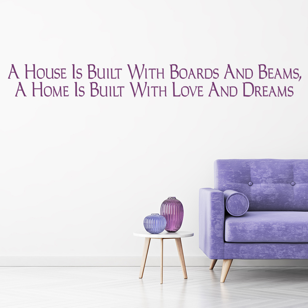 A House Is Built With Boards And Beams Wall Sticker Love Wall Art