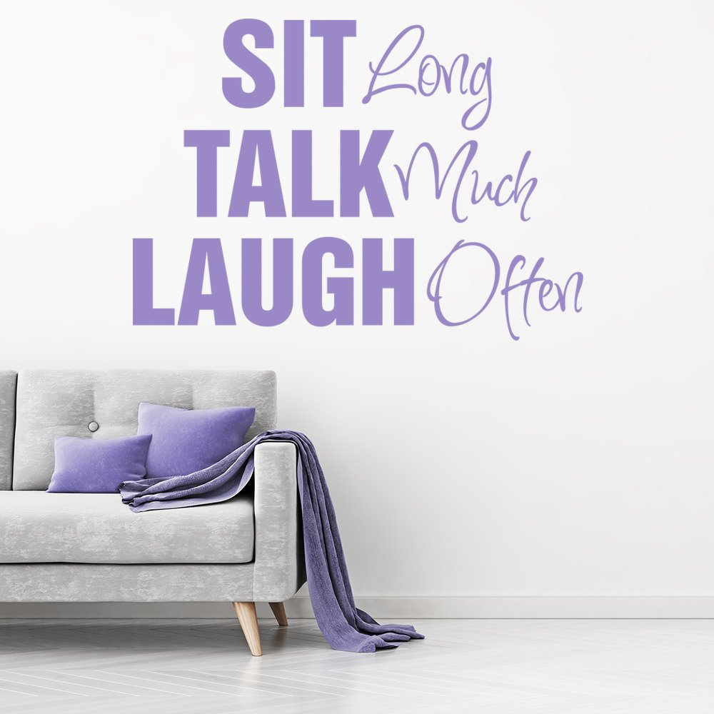 Sit Talk Laugh Wall Sticker Family Wall Art