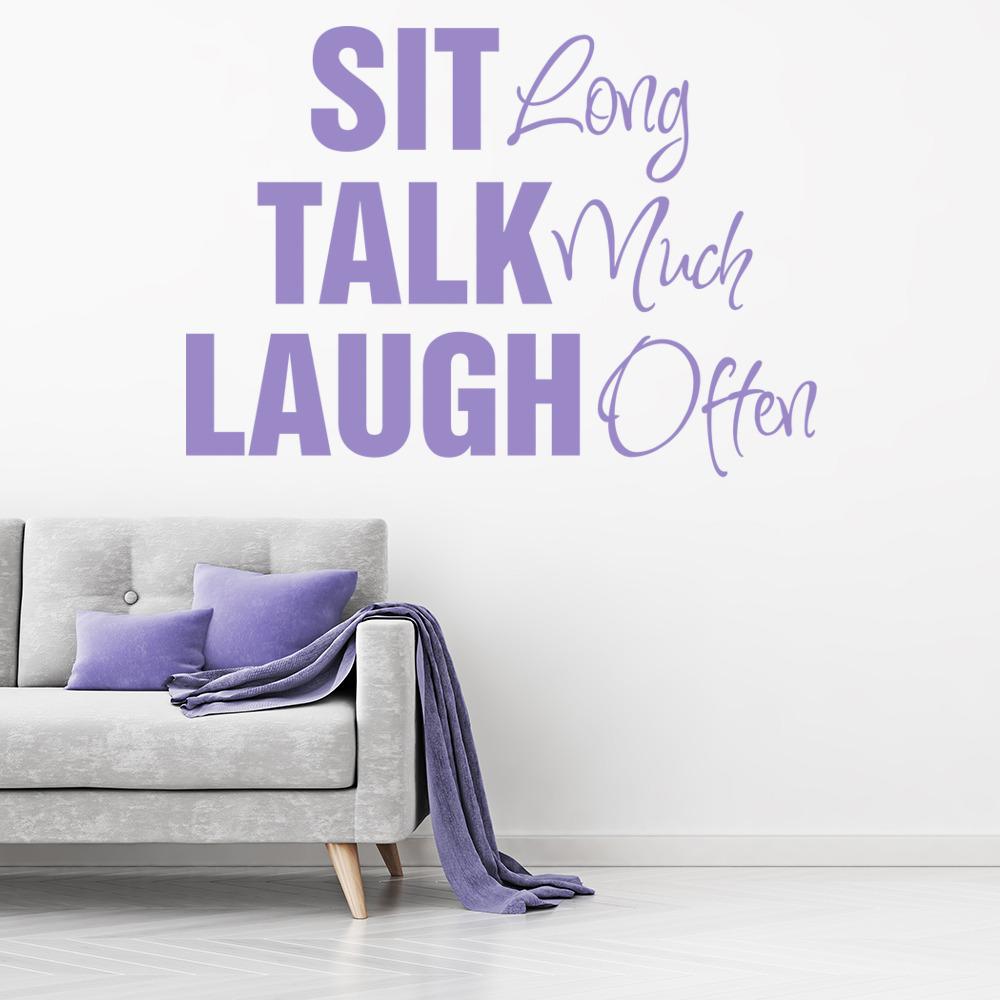 Sit Talk Laugh Wall Sticker Family Wall Art