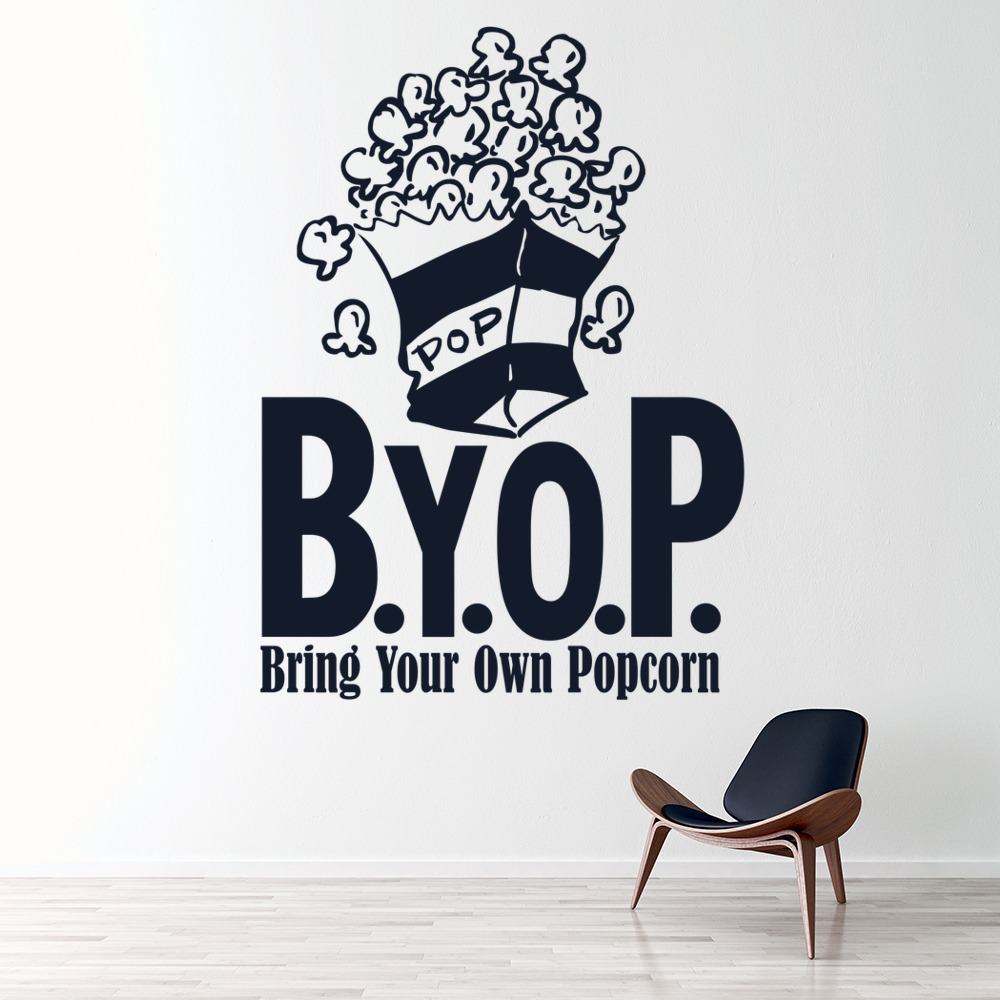 Bring Your Own Popcorn Wall Sticker Home Wall Art