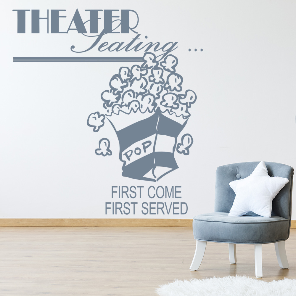 Theater Seating First Come First Served Wall Sticker Home Wall Art