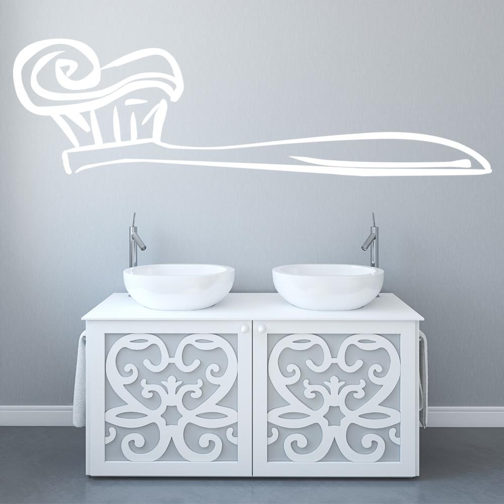Toothbrush Wall Sticker Bathroom Wall Art