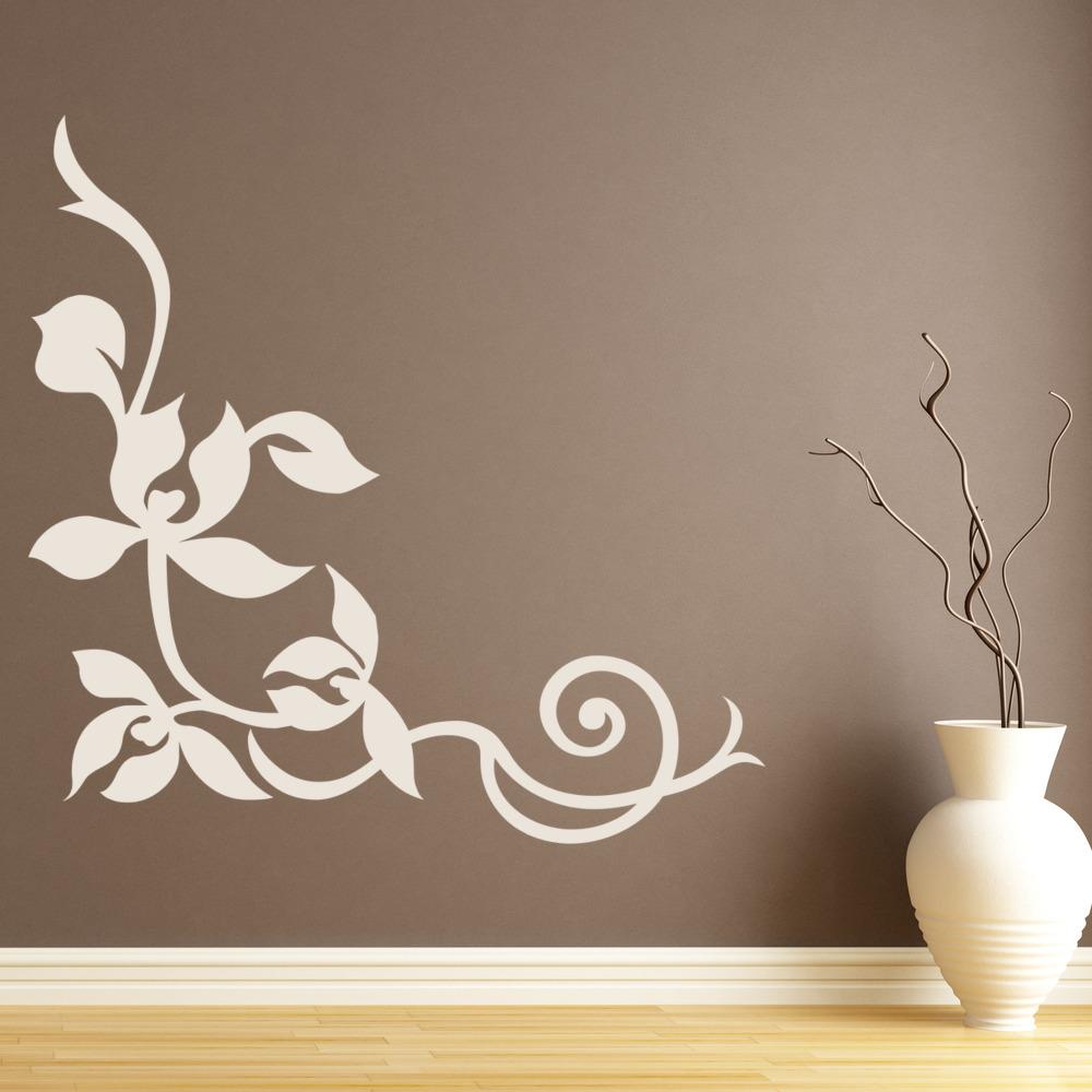 Decorative Leaf Corner Wall Sticker Nature Wall Art