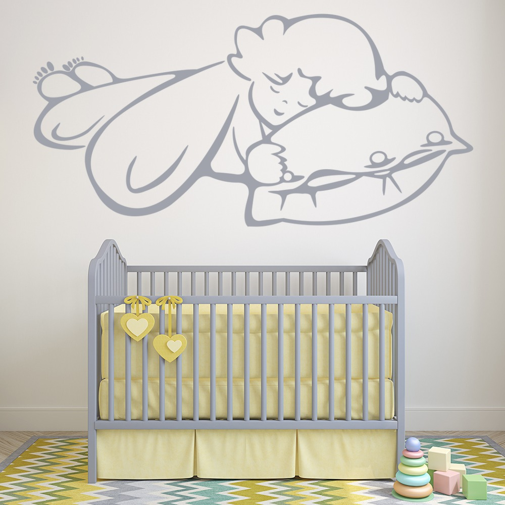 Sleeping Angel Wall Sticker Angel Wall Art
