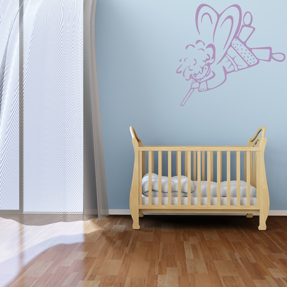 Flute Playing Angel Wall Sticker Angel Wall Art