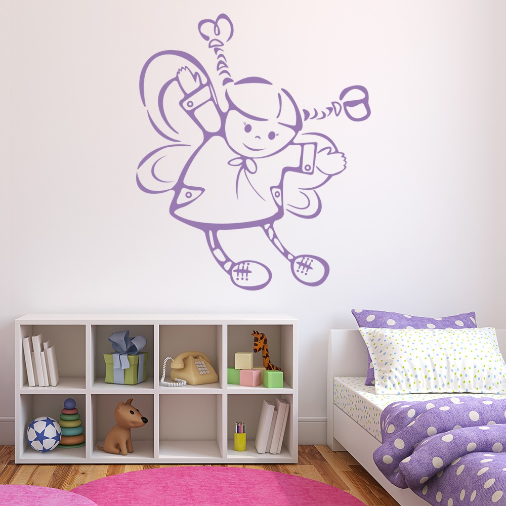 Pig ailed Fairy Wall Sticker Fairy Wall Art