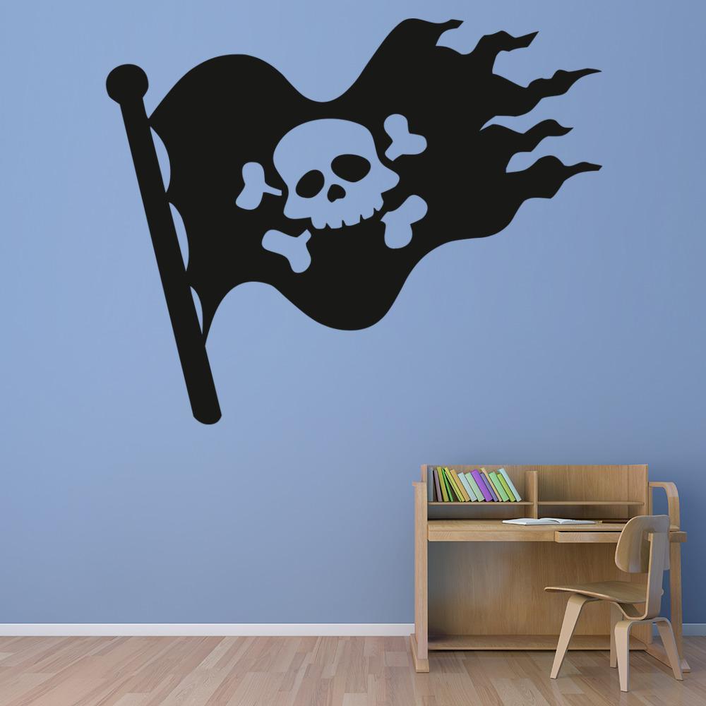 Pirate Skull Flag Wall Sticker Pirate Wall Art