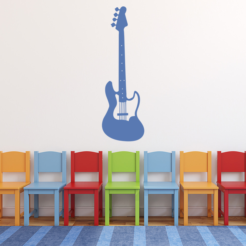 electric guitar wall sticker musical instrument wall decal rock music home decor. Black Bedroom Furniture Sets. Home Design Ideas