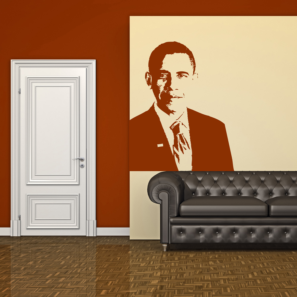 Barack Obama Wall Sticker Icon Wall Art