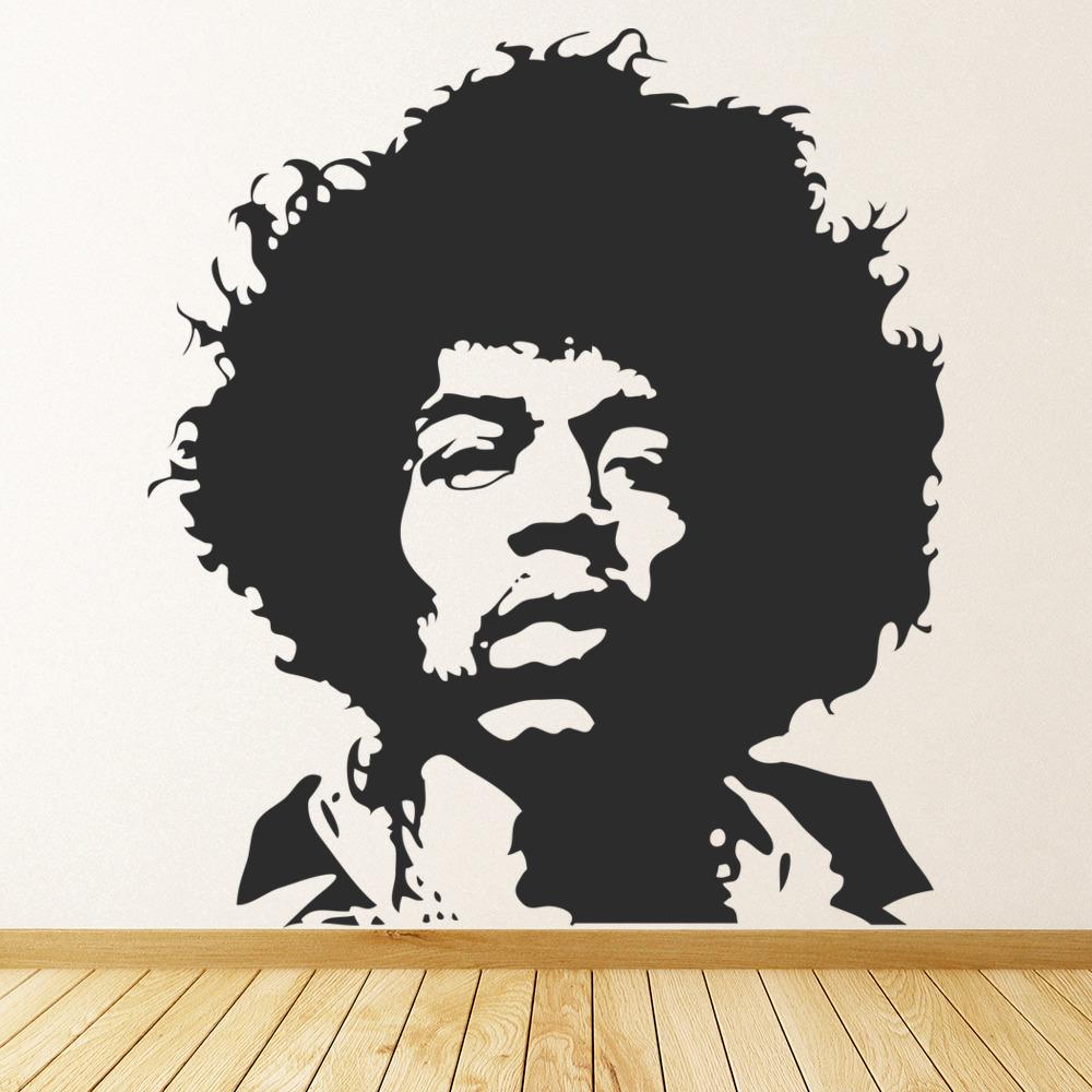 Jimmi Hendrix Wall Stickers Icon Wall Art