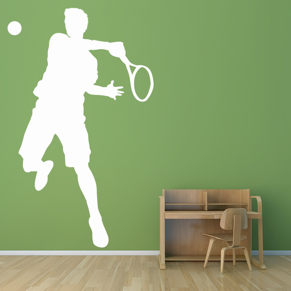 tennis player wall sticker sport wall art