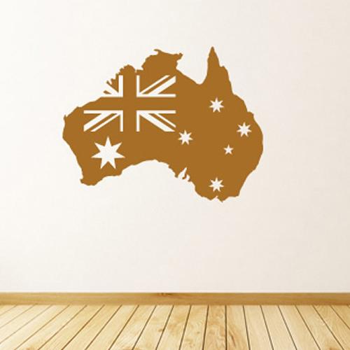 australian flag wall stickers map wall art australia young kangaroo wall decal baby amp kids wall