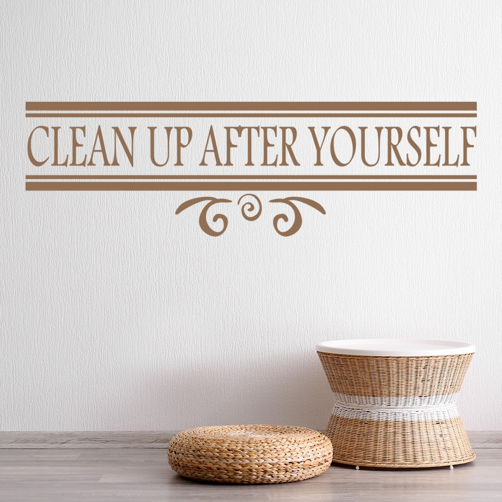 Clean Up After Yourself Wall Sticker Home And Living Wall Art Decal